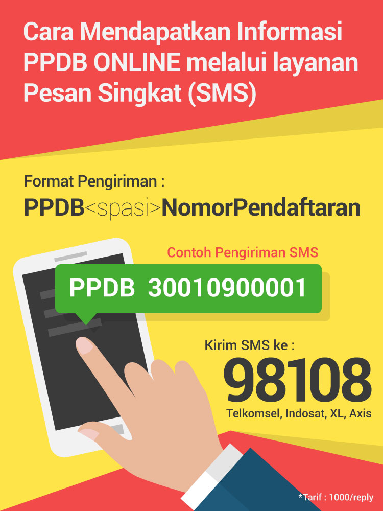 Informasi PPDB via SMS Resmi